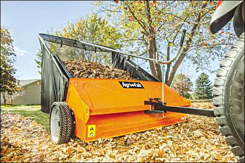 "The Agri-Fab 44"" lawn sweeper is a time saver"