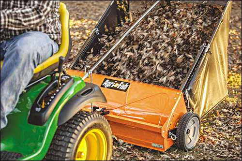 "Agri-Fab 44"" lawn sweeper is better for your back"