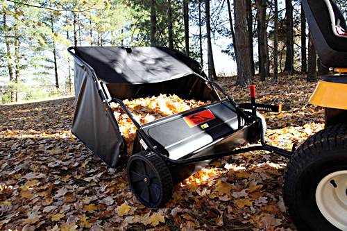 """The Brinly 42"""" lawn sweeper is fun to work with"""