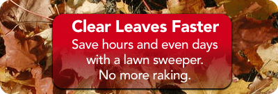 Get a lawn sweeper to save time and energy