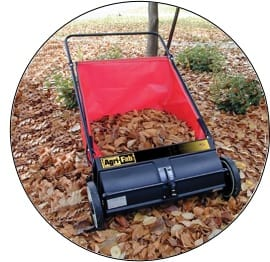 "Agri-Fab 26"" Lawn Sweeper With Leaves Inside"
