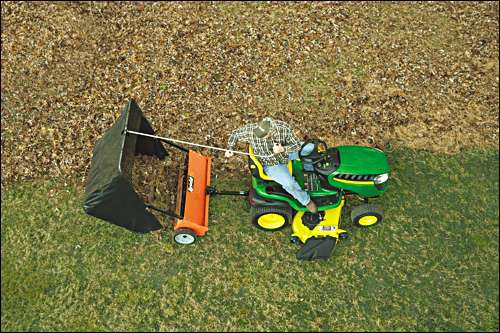 "The Agri-Fab 44"" lawn sweeper is easy and fun to operate"
