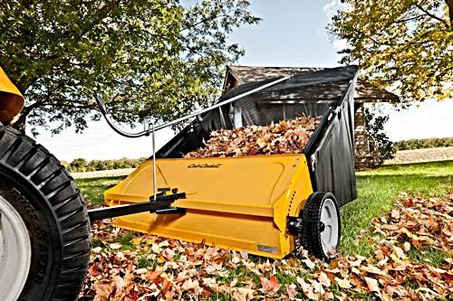 """The Cub Cadet 44"""" lawn sweeper is a big time saver"""